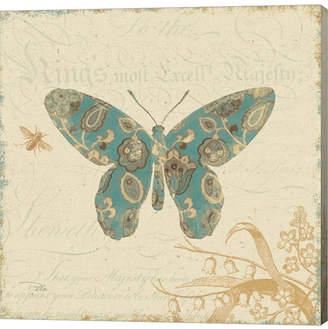 Alain Metaverse Natures Pattern Ii in Blue by Pelletier Canvas Art