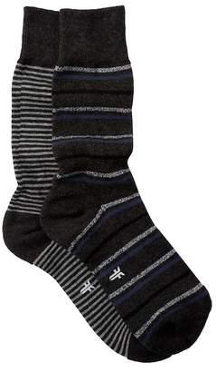 Frye Striped Cushioned Crew Socks - Pack of 2
