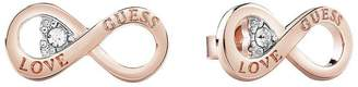 GUESS Rose Gold Plated Infinity Symbol Ladies Earrings