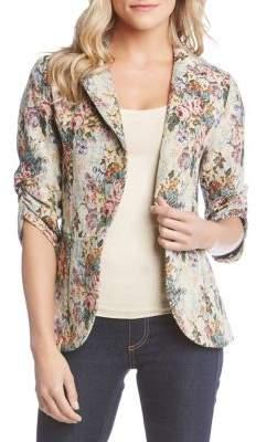 Karen Kane Floral Jacquard Tapestry Jacket