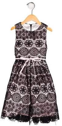 Helena Girls' Embroidered A-Line Dress