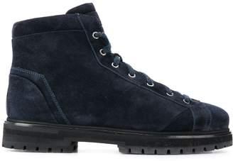 Santoni square toe boots