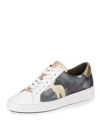 3b5bdea59c7 MICHAEL Michael Kors Irving Metallic Camo Leather Low-Top Sneakers