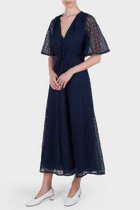 Temperley London Sunrise V-Neck Dress