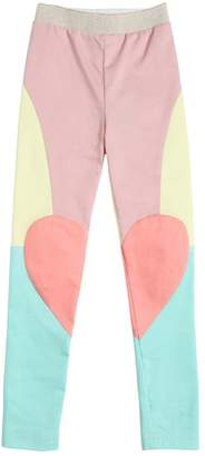 Patchwork Stretch Denim Leggings