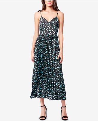Betsey Johnson Floral Pleated Midi Dress