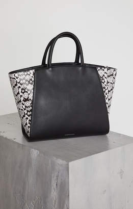 BCBGMAXAZRIA Zoey Leather Snake Tote