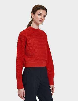 3.1 Phillip Lim Faux Plaited Cropped Sweater