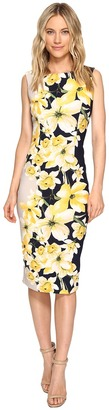 Christin Michaels - Helene Cap Sleeve Midi Dress Women's Dress $98 thestylecure.com