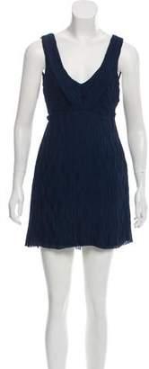 Rag & Bone Silk Pleated Mini Dress