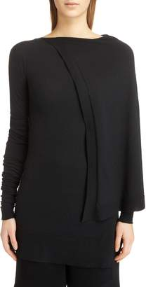 Rick Owens Cape Shoulder Stretch Cashmere Sweater