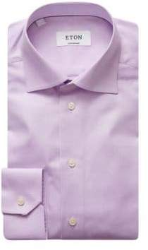 Eton Contemporary Fit Herringbone Dress Shirt
