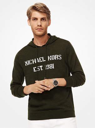 e71f9daa7e Michael Kors Logo Merino Wool Hoodie