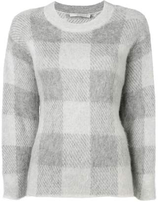 Vince check knit sweater