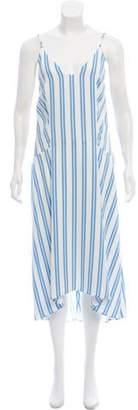 Balenciaga 2017 Striped Midi Dress