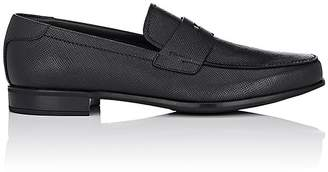 Prada Men's Saffiano Leather Penny Loafers