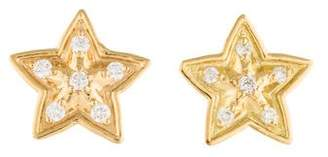 Jamie Wolf 18K Diamond Little Wolf Star Stud Earrings