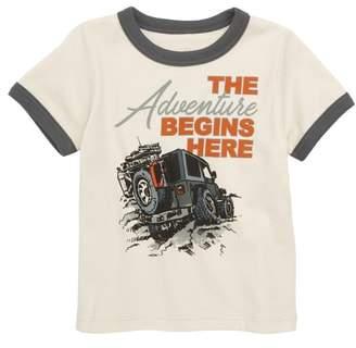 Peek The Adventure Begins Here Graphic T-Shirt