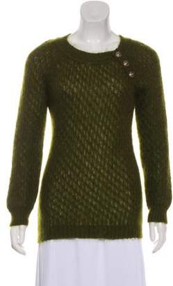 Balmain Medium-Weight Long Sleeve Sweater Olive Medium-Weight Long Sleeve Sweater
