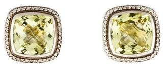 David Yurman Citrine & Diamond Albion Earclips