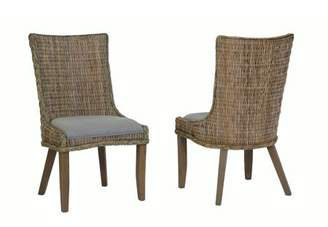 Matisse Coaster Company Country Woven Dining Chair Set of Two, Grey Wash