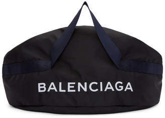 Balenciaga Black Medium Logo Duffle Bag