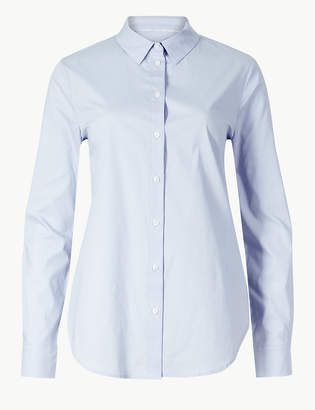 Marks and Spencer Cotton Rich Long Sleeve Shirt
