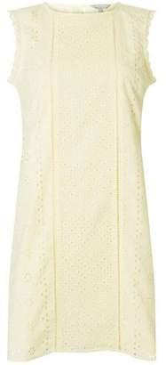 Dorothy Perkins Womens Petite Lemon Broderie Shift Dress