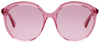 Gucci Pink 80s Motorcycle Sunglasses