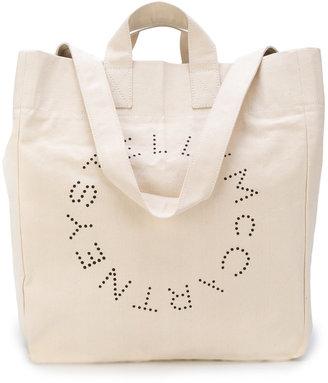 logo printed beach tote bag