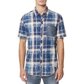 Buffalo David Bitton Men's Denim-Pocket Plaid Shirt Combo