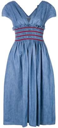 Miu Miu ruched waist A-line dress