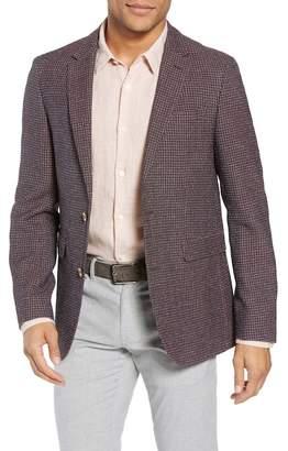 Sand Trim Fit Check Wool Blend Sport Coat