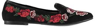 Miso Womens Ella Embroidered Shoes Casual Slip On Pattern Floral