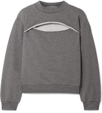 Alexander Wang Cutout French Cotton-terry Sweatshirt - Anthracite