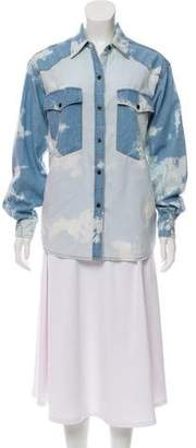 Isabel Marant Tie-Dye Chambray Button-Up