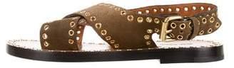 Isabel Marant Suede Ankle Strap Sandals