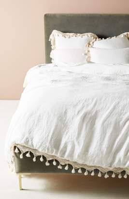 Anthropologie Tassel Trim Duvet Cover