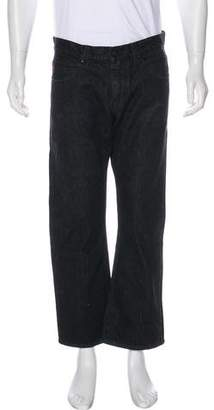 Gucci Web-Accented Straight-Leg Cropped Jeans
