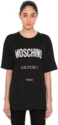 Moschino Couture! Cotton Jersey T-Shirt