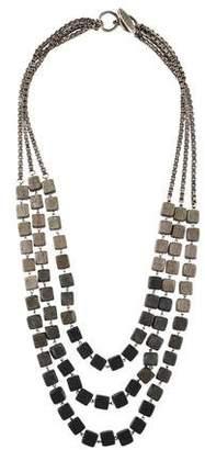 Lela Rose Wooden Bead Multistrand Necklace
