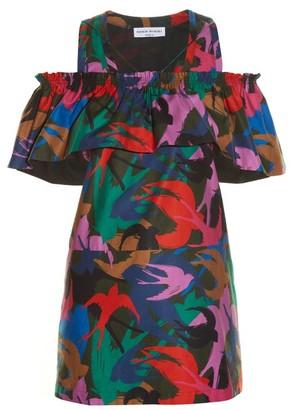 Sonia Rykiel Swallow Camouflage Print Satin Top - Womens - Multi