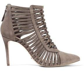Schutz Mulanita Cutout Brushed-Suede Ankle Boots