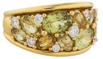 Ring 18K Diamond & Peridot Band