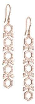 Astley Clarke 14K Rose Gold& Diamond Honeycomb Drop Earrings