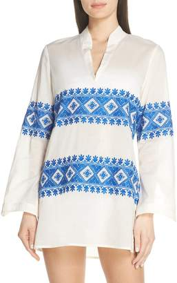 Tory Burch Stephanie Embroidered Cover-Up Tunic