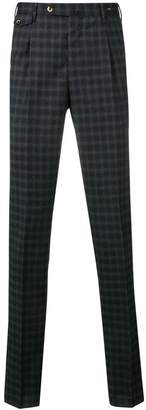 Pt01 checkered straight-leg trousers