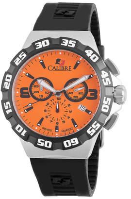 Lancer Calibre 44mm Men's Chronograph Watch w/ Rubber Strap, Orange