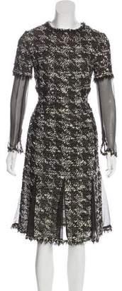 Chanel Wool & Silk Midi Dress