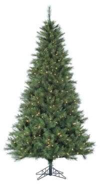 Fraser Hill Farms Smart String Pre-Lit Canyon Pine Artificial Christmas Tree - White - 6.5 Ft.
